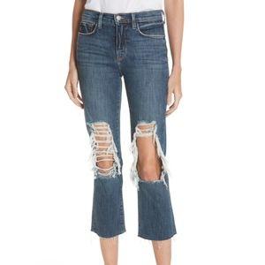 L'AGENCE Jeans - L'AGENCE | Jordan Ripped Crop Bootcut Jeans SZ 28